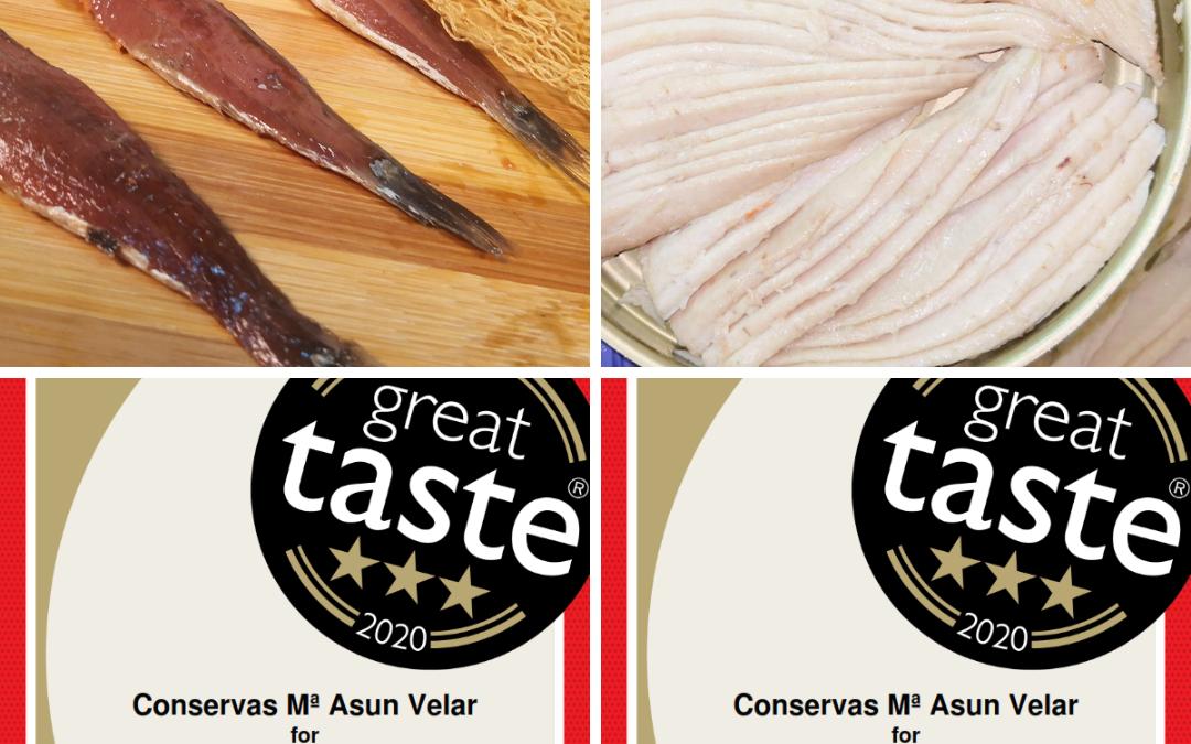 Conservas Mª Asun Velar triunfa en los Great Taste Awards: 3 estrellas para sus anchoas  y 3 para la ventresca de bonito