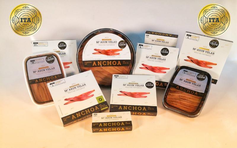 Oro para las anchoas de la conservera castreña Mª Asun Velar  en los International Taste Awards (ITA)